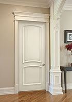 Paint Grade Interior Door.  Custom Paint-Grade MDF Interior Powder Room Door