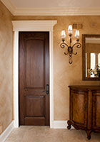 Traditional Interior Door.  Single Door, Two Panel with Raised Moldings DBI-701