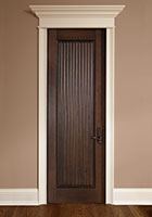 Traditional Interior Door.  Single Door, Hand Carved, Ridged Tambour Style  DBI-580