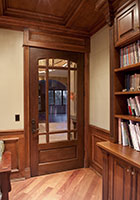Traditional Interior Door.  Interior Door with  Glass and Prefinished Prairie Grills  DBI-511 295