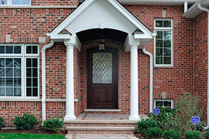Classic Entry Door.  Classic Diamond Collection Solid Wood Front Entry Door - Diamond Leaded Privacy Glass DB-552WDG