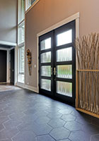 Modern Entry Door.  Custom Modern Wood Double Door  DB-EMD-823 DD CST