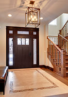Craftsman Entry Door.  Craftsman Mahogany Door -Sidelites, Beveled Glass