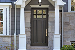 Classic Entry Door.  Classic Collection 3 Panel Door, Euro Technology, Clear Beveled Glass DB-311PW