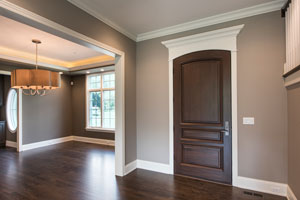 Classic Entry Door.  Front Door, Dining Room