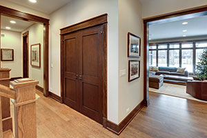 Traditional Interior Door.  Custom Interior Solid Wood Door, Double with Flat Panel