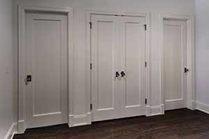 Paint Grade Interior Door.  Single Panel Paint Grade MDF doors For Closet and Bedroom Entrance