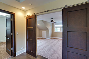 Traditional Interior Door.  Custom Classic Solid Wood Double Door - Barn Doors