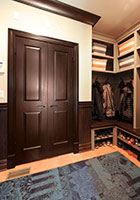 Traditional Interior Door.  Custom Interior Solid Wood Double Door
