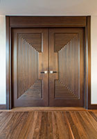 Traditional Interior Door.  Custom Interior Transitional Solid Wood Double DBI-580 DD