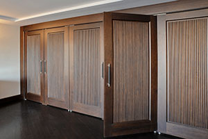 Traditional Interior Door.  Custom Interior Solid Wood Double Doors, Custom Ridges, Transitional Style DBI-580 DD