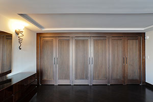 Traditional Interior Door.  Custom Interior Solid Wood Double Doors, Custom Ridges, Transitional Style DBI-580 DD 252