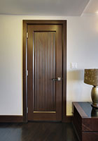 Traditional Interior Door.  Custom Interior Solid Wood Door, Custom Ridges DBI-580