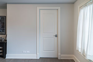 Paint Grade Interior Door. 2 Panel Paint Grade MDF Door For Bedroom Entry