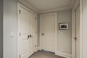 Paint Grade Interior Door.  2-Panel Paint Grade MDF Doors for Closet and Bedroom Entrances