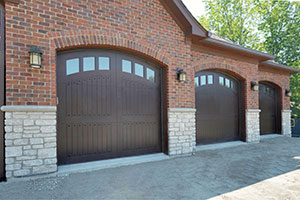 Classic Garage Door.  Custom Solid Mahogany Wood Garage Doors