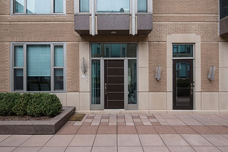 Modern Entry Door.  33 W Ontario Chicago Townhomes Modern Commercial Doors  DB-EMD-B1W 4