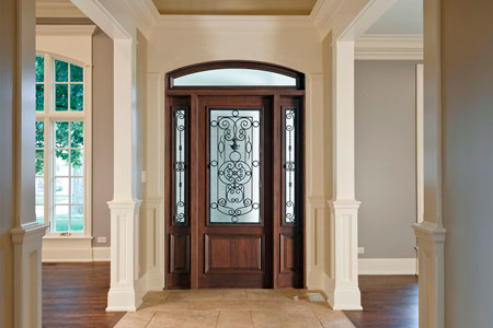 Heritage Entry Door.  Heritage Collection Custom Wood Front Entry Door DB-552G 2SL TR CST 219