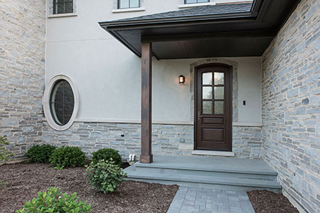 Classic Entry Door.  privacy glass on single front entry door, for luxury home DB-652W 98