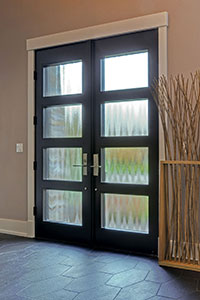 Modern Entry Door.  Custom Modern Wood Double Door  DB-EMD-823 DD CST 13