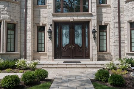 Heritage Front Door.  Heritage Collection Custom Wood Front Entry Door DB-H000 DD 2SL CST 377