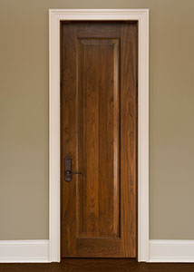 Traditional Interior Door.  Custom Interior 1 Raised Panel Solid Wood Door, Single DBI-1000A 270
