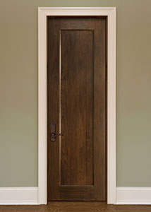 Traditional Interior Door.  Custom Interior 1 Flat Panel Solid Wood Door, Single DBI-1000B 269