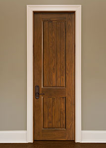 Classic Interior Door.  Custom Interior 2 Panel Solid Wood Door, Single with V-Grooves DBI-2000VG 267