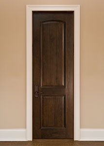 Traditional Interior Door.  Custom Interior Arched Top Wood Door with Raised Moulding DBI-701 263