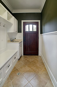 Classic Entry Door.     Solid Wood Entry Door - Mudroom