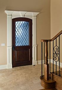 Classic Front Door.  diamond glass front entry single door DB-552WDG