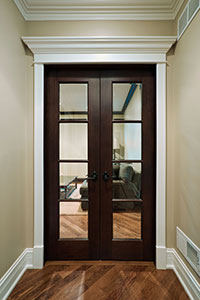 Traditional Interior Door.  Double Interior Door Clear Glass with Grills DBI-916 DD 293