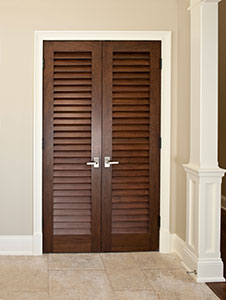 Traditional Interior Door.  Custom Double Louver Door For Interior DBI-101LV DD 296
