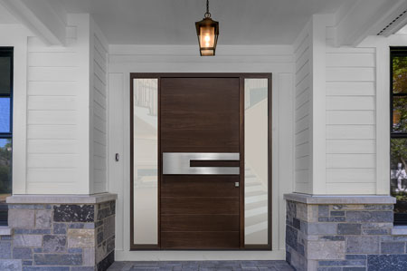 Modern Entry Door.    GD-EMD-A4W 2SL 14