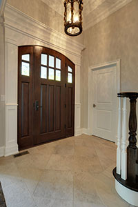 Classic Entry Door.  arched top front entry door with sidelites  DB-112WA 2SL