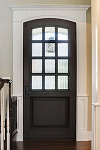 Classic Entry Door.  12 lite single entry door in solid wood, single panel  DB-012WA 147
