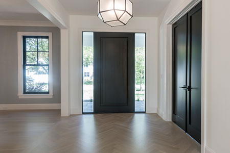 Classic Entry Door. DB-001PW 2SL 4