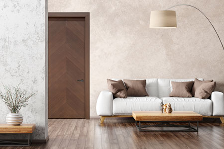Modern Interior Door.  Wood Veneer Solid Core Modern Interior Door GDIM-FL2050