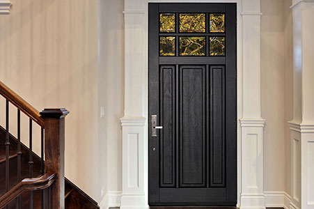 Classic Entry Door.  classic single solid wood front entry door, clear glass DB-311PW 128