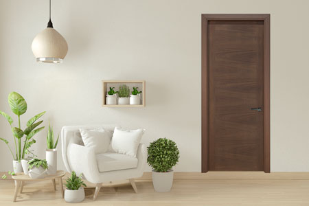 Modern Interior Door.  Wood Veneer Solid Core Modern Interior Door GDIM-L60