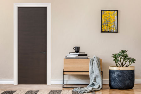 Modern Interior Door.  Wood Veneer Solid Core Modern Interior Door GDIM-L62