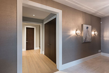 Modern Interior Door.  Modern Interior Doors, Walnut Wood Fitting with the Modern Decor  DBIM-MD1005