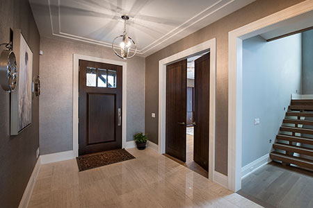 Transitional Entry Door.  Front Door, Office Modern Interior Double Door DB-114W CST 27