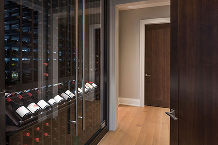 Modern Interior Door.  Contemporary Interior Door,  Wine Cellar Cabinet DBIM-MD1005