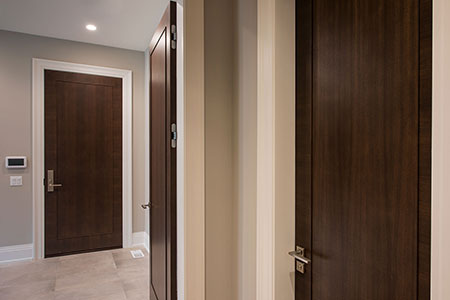 Modern Interior Door.  Modern Interior Door Featuring Finest Walnut Wood Veneer DBIM-MD1005