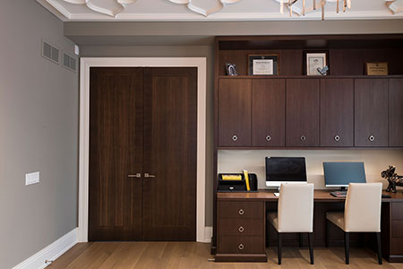 Modern Interior Door.  Contemporary Double Door from Walnut, Custom Office Furniture  DBIM-MD1005