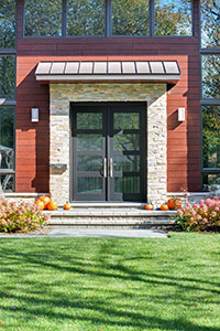 Modern Entry Door.  Custom Modern Wood Double Door  DB-EMD-823 DD CST 14