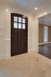 Classic Entry Door.  interior view of french style front entry door, mahogany wood DB-112WA 161