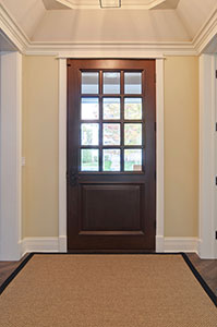 Classic Entry Door.  solid wood front entry door, clear glass, 12 lite DB-012W 168