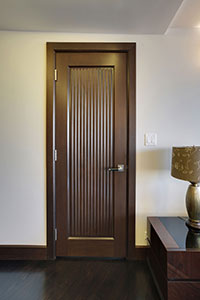 Traditional Interior Door.  Custom Interior Solid Wood Door, Custom Ridges DBI-580 245